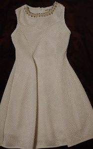 monteau girl beaded girls dress size 7 white